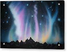 Aurora Borealis In The Rockies Acrylic Print