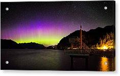 Aurora Borealis Near Vancouver Acrylic Print by Alexis Birkill