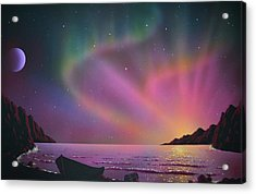 Aurora Borealis With Lobster Cage Acrylic Print