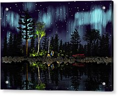 Aurora  Campfire Award Winner Acrylic Print