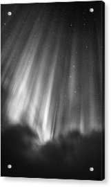 Aurora Curtains In The Arctic Night Acrylic Print by Mike Berenson