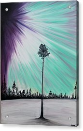 Aurora-oil Painting Acrylic Print by Rejeena Niaz
