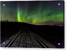 Aurora Railroad Tracks Acrylic Print by Sam Amato