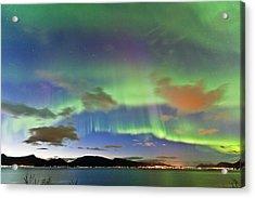 Auroras At Sortland Strait II Acrylic Print by Frank Olsen