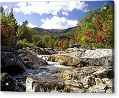 Ausable River Entering Flume Acrylic Print
