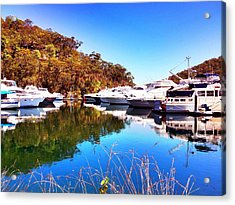 Aussie Blues Acrylic Print by Marty  Cobcroft