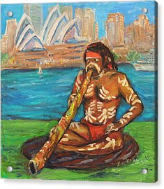 Acrylic Print featuring the painting Aussie Dream I by Xueling Zou