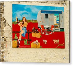 Austin - Camping Mural Acrylic Print