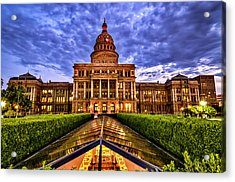 Austin Capitol At Sunset Acrylic Print by John Maffei