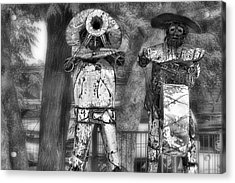 Austin Musical Duo 2 Acrylic Print by Linda Phelps