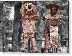 Austin Musical Duo 3 Acrylic Print by Linda Phelps