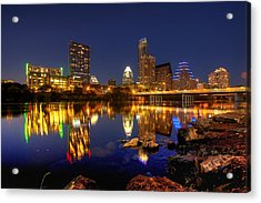 Acrylic Print featuring the photograph Austin On The Rocks by Dave Files