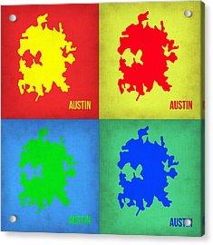 Austin Pop Art Map 1 Acrylic Print