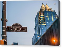 Austin Sixth Street  Acrylic Print by Tod and Cynthia Grubbs