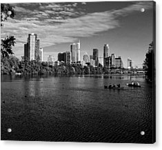 Austin Skyline Bw Acrylic Print