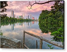 Austin Skyline From Lou Neff Point Acrylic Print by Silvio Ligutti