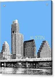Austin Skyline - Sky Blue Acrylic Print by DB Artist