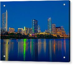 Acrylic Print featuring the photograph Austin Skyline by Tim Stanley