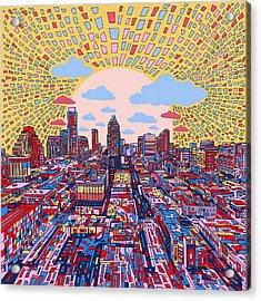 Austin Texas Abstract Panorama 2 Acrylic Print