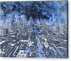 Austin Texas Abstract Panorama 5 Acrylic Print