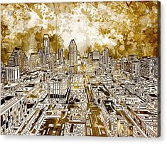Austin Texas Abstract Panorama 6 Acrylic Print