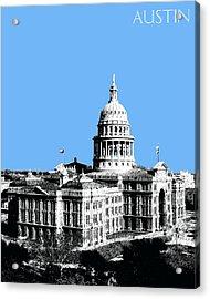 Austin Texas Capital - Sky Blue Acrylic Print by DB Artist