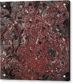 Austin Texas Map 3 Acrylic Print