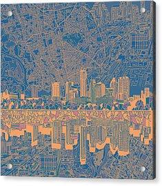 Austin Texas Skyline 2 Acrylic Print