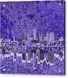 Austin Texas Skyline 4 Acrylic Print