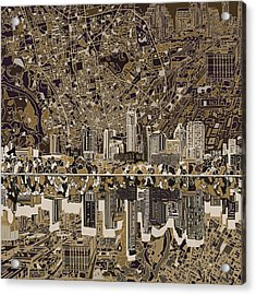 Austin Texas Skyline 5 Acrylic Print by Bekim Art