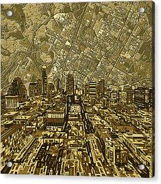 Austin Texas Vintage Panorama Acrylic Print
