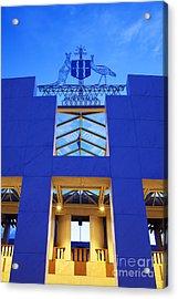Australia Canberra Parliament House Twilight Acrylic Print