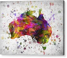Australia In Color Acrylic Print by Aged Pixel