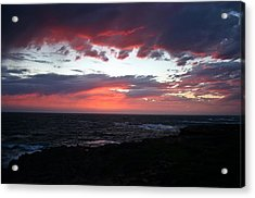Acrylic Print featuring the photograph Australia Sunset by Henry Kowalski