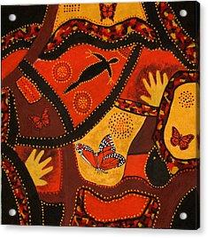Australian Colours Acrylic Print by Susan McLean Gray