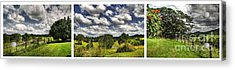 Australian Countryside - Floating Clouds Collage Acrylic Print by Kaye Menner