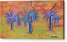 Acrylic Print featuring the painting Australian Grass Trees by Lyn Olsen