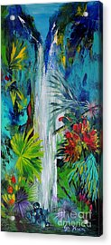 Acrylic Print featuring the painting Australian Rainforest by Lyn Olsen