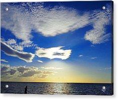 Australian Sommer Sky Acrylic Print by Ute Posegga-Rudel