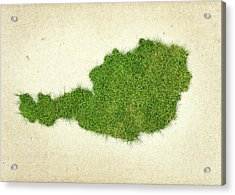 Austria Grass Map Acrylic Print by Aged Pixel