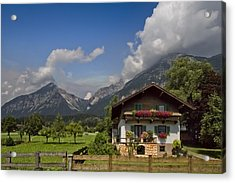 Austrian Cottage Acrylic Print by Debra and Dave Vanderlaan