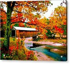 Authentic Covered Bridge Vt Acrylic Print