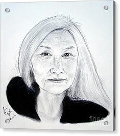 Author And Activist Maxine Hong Kingston Acrylic Print by Jim Fitzpatrick