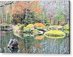 Autumn Lakeside Acrylic Print by James Potts