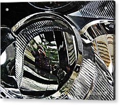 Auto Headlight 133 Acrylic Print by Sarah Loft