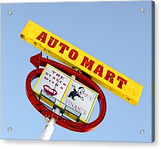 Acrylic Print featuring the photograph Auto Mart by Gigi Ebert