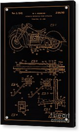 Automate Motorcycle Stand Retractor Blk Brown Acrylic Print