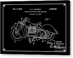 Automate Motorcycle Stand Retractor.white Acrylic Print