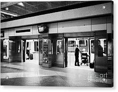 automated guideway transit system at Denver International Airport Colorado USA Acrylic Print by Joe Fox
