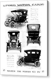 Automobile Advertisement Acrylic Print by Granger